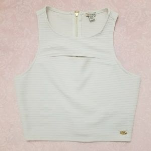 Guess White Crop Top